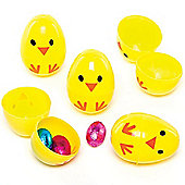 Chick 2-part Plastic Eggs for Children to Fill With Sweets for Easter Egg Hunt (Pack of 10)