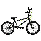 "Tiger UCX4 20"" Alloy Wheel 25/9 Hi-Ten BMX Bike Grey/Lime"