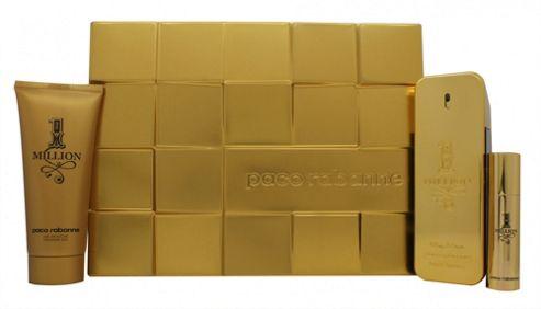 Paco Rabanne 1 Million Gift Set 100ml EDT + 10ml EDT + 100ml Shower Gel For Men