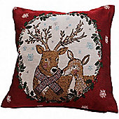 Mr and Mrs Stag Tapestry Cushion Cover
