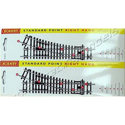 Hornby Track R8073 2X Standard Points Rh