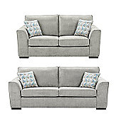 Boston 2.5 Seater + 3 Seater Sofa Set, Light Grey