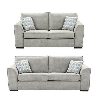 Delightful Boston 2.5 Seater + 3 Seater Sofa Set, Light Grey
