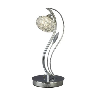 Leimo Table Lamp 1 Light Polished Chrome/Crystal