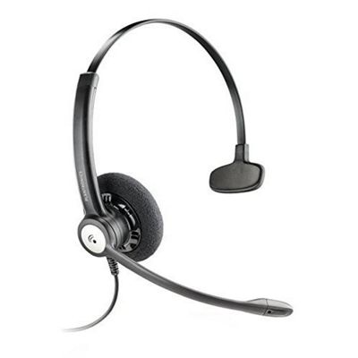 Plantronics Entera HW111N Wired Mono Headset - Over-the-head - Supra-aural