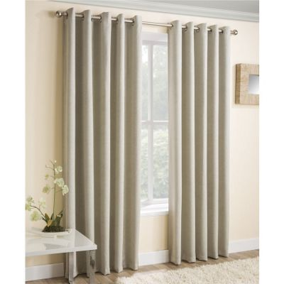 Enhanced Living Vogue Cream Eyelet Curtains - 46x54 Inches (117x137cm)