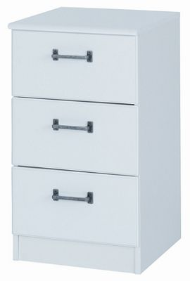 Alto Furniture Visualise Century 3 Drawer Bedside Table