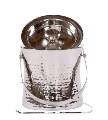 Epicurean Elegant Stainless Steel Ice Bucket with Tongs
