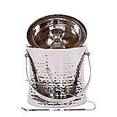 Epicurean Elegant Stainless Steel Ice Bucket with Tongs