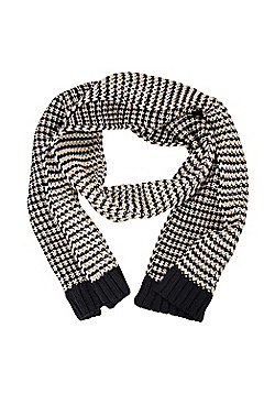 Mountain Warehouse Winter Wamer Scarf with Thick Knit Provides - 180 cm - Blue