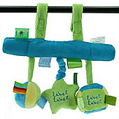 Label Label Car Seat Toy (Green/Blue)