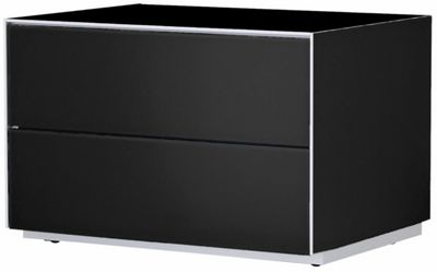 Optimum Project Iso Series Storage Cabinet with Double Drawers - Gloss Black