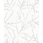 Superfresco Easy Paste the Wall Innocence White Metallic Wallpaper