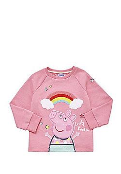 Peppa Pig Boucle Rainbow Sweatshirt - Pink