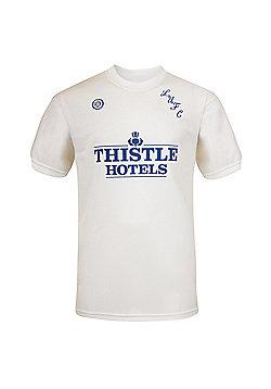 Leeds United AFC Mens 1982 1986 1996 Retro Shirt - White & Multi