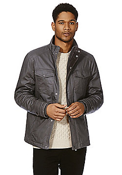 F&F Coated Harrington Jacket - Grey