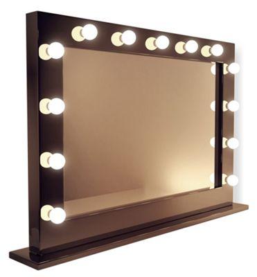 Buy High Gloss Black Hollywood Makeup Dressing Room Mirror