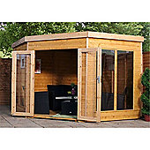 9 x 9 Sutton Premier Wooden Corner Garden Summerhouse (Tongue and Groove Roof and Floor) (9ft x 9ft) - Fast Delivery - Pick A Day