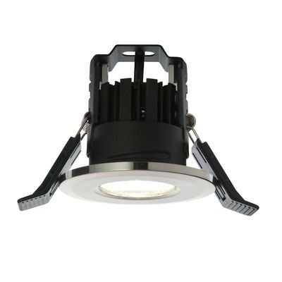 Shield LED 4.5W Warm White Recessed Downlight Satin Nickel Plate