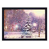 3D Effect Lit Lenticular Christmas Tree Canvas 50x35cm