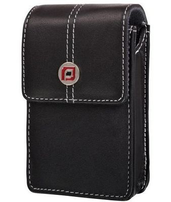 Proper Aura Leather Compact Digital Camera Case Black 9 X 6 X 2.5cm TSO-05C3