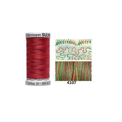 Gutermann Sulky Variegated Cotton 300m Antique Christmas