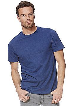 F&F Marl Crew Neck T-Shirt - Petrol