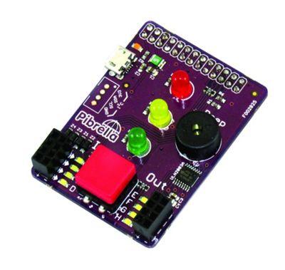 Cyntech Pibrella for Raspberry Pi Lights Buzzer Switch I O Pins