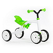 4 Wheel Ride On Kids Bike - Quadie - Lime - Chillafish Grow-With-Me
