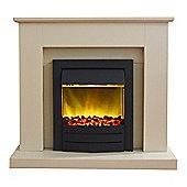 Adam Fareham Stone Effect Electric Fireplace Suite