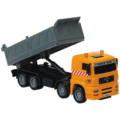 City Team Vehicle Orange Dump Truck