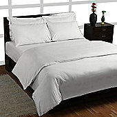 Homescapes Silver Grey Egyptian Cotton Duvet Cover with Pillowcases 200 TC, Double