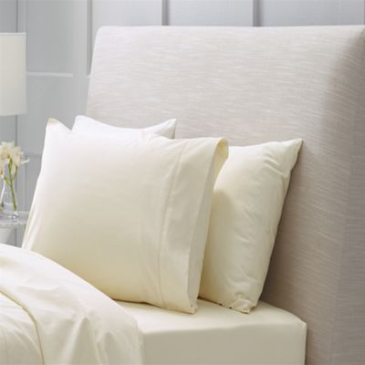 Sheridan 1000 Thread Count Cotton Sateen Chalk Tailored Single Pillowcase 50X75cm