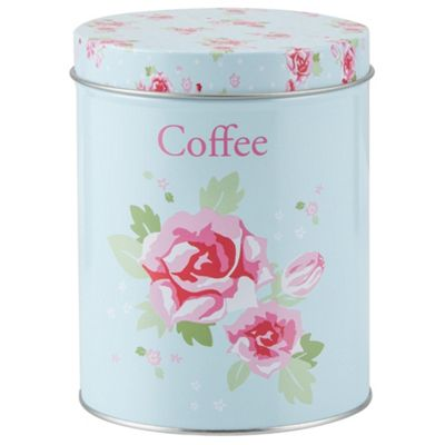 English Rose Coffee Storage Canister