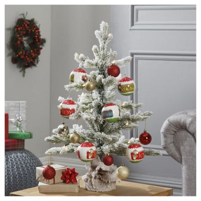 Buy Dobbies Pre Lit Bo Frosted Sapling Christmas Tree 2ft