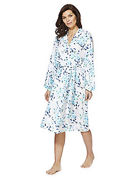 F&F Floral Print Dressing Gown - Blue Multi