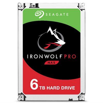 6TB Seagate IronWolf Pro NAS Hard Drive 3.5 SATA III 6GBs 7200RPM 256MB Cache