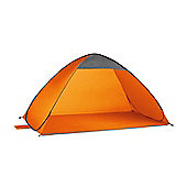 Orange Pop Up Beach Tent with UPF Sun Protection