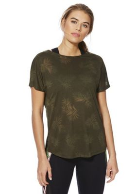 F&F Active Tropical Burnout T-Shirt Khaki XS