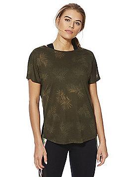 F&F Active Tropical Burnout T-Shirt - Khaki