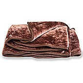 Faux Fur Chocolate Mink Throw Soft Warm Blanket 150 x 200cm