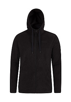 Mountain Warehouse Camber Mens Micro Fleece Hoodie - Black