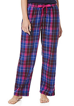 F&F Checked Lounge Pants - Pink & Purple