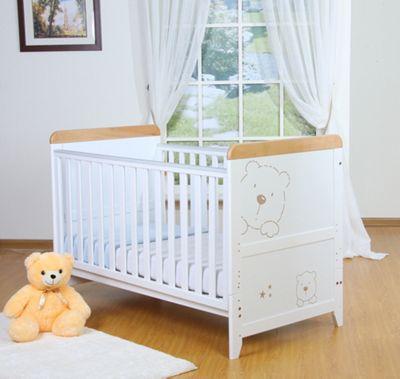 Tutti Bambini Three Bears Dropside Cot in White