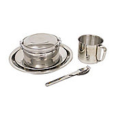 Stainless Steel Camping Set - 5 Piece - Yellowstone
