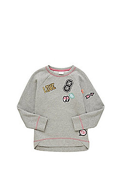 F&F Badge Embroidered Sweatshirt - Grey