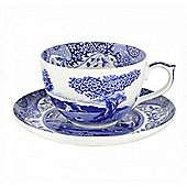Spode Blue Italian Jumbo Cup and Saucer 0.56L