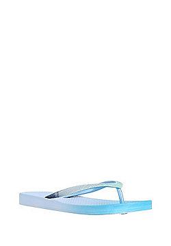 F&F Mermaid Shimmer Flip Flops - Blue