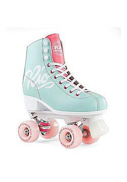 Rio Roller Script Quad Roller Skates - Teal/Coral - Pink