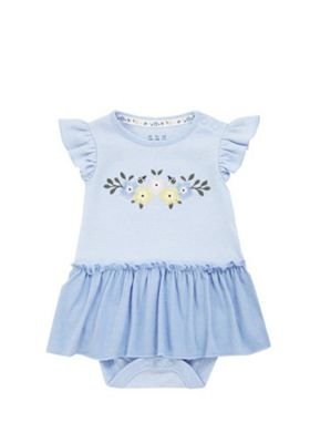 F&F Floral Tutu Bodysuit Blue 3-6 months